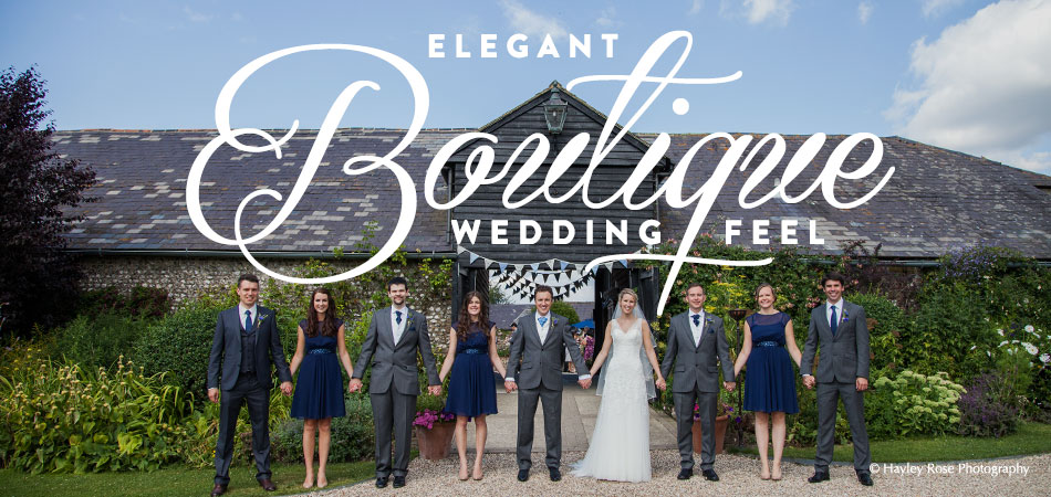 Elegant Boutique Wedding Feel - Upwaltham Barns - © Hayley Rose Photography