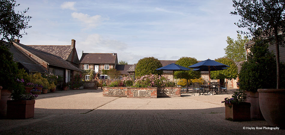 Courtyard View At Upwaltham Barns