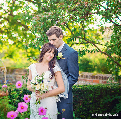 Happy Couple In The Gardens