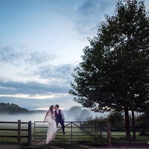 Upwaltham Barns Misty Wedding Photos