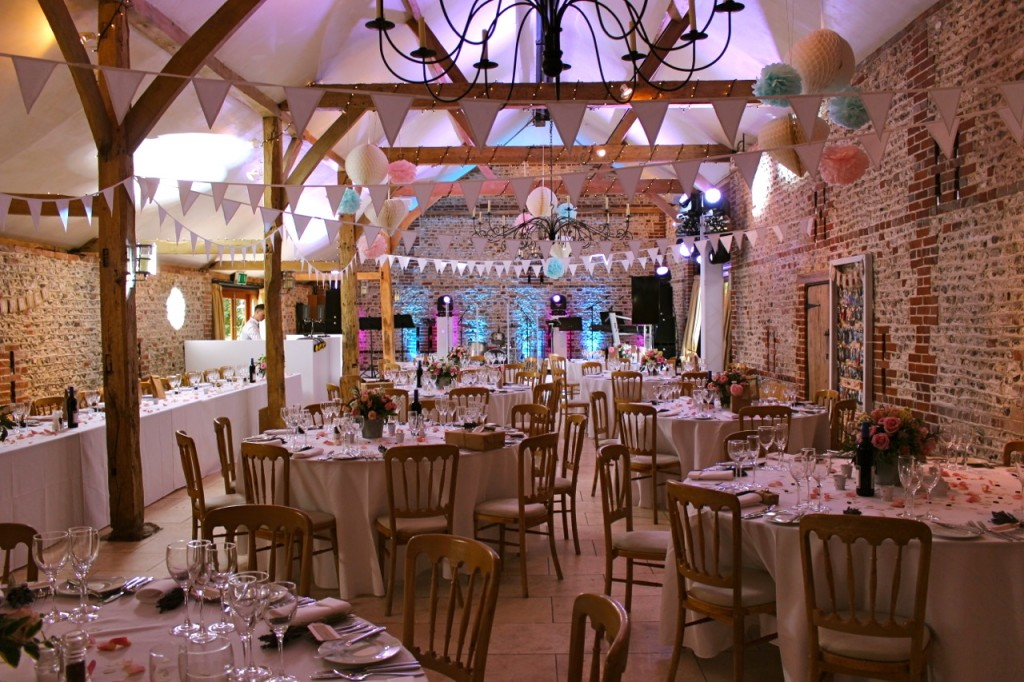 Diy wedding decorations pompoms at upwaltham barns pastle pompoms south barn pompoms junglespirit