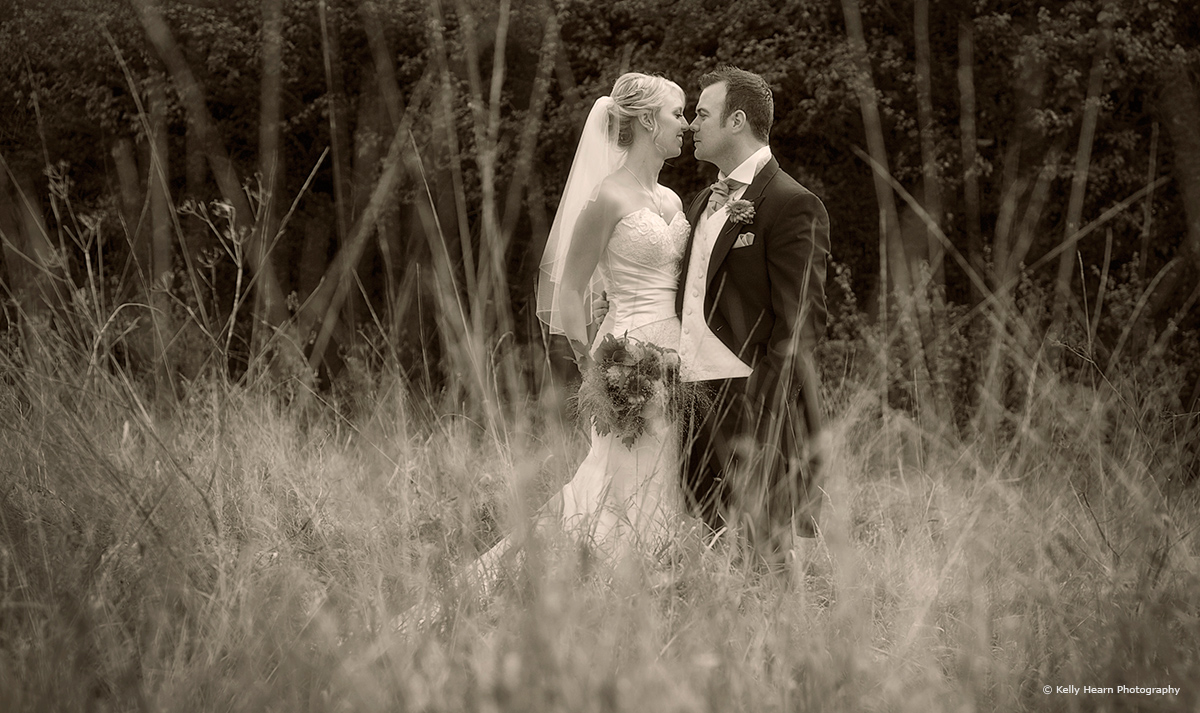 The bride and groom sharing their top tips at Upwaltham Barns - © Kelly Hearn Photography