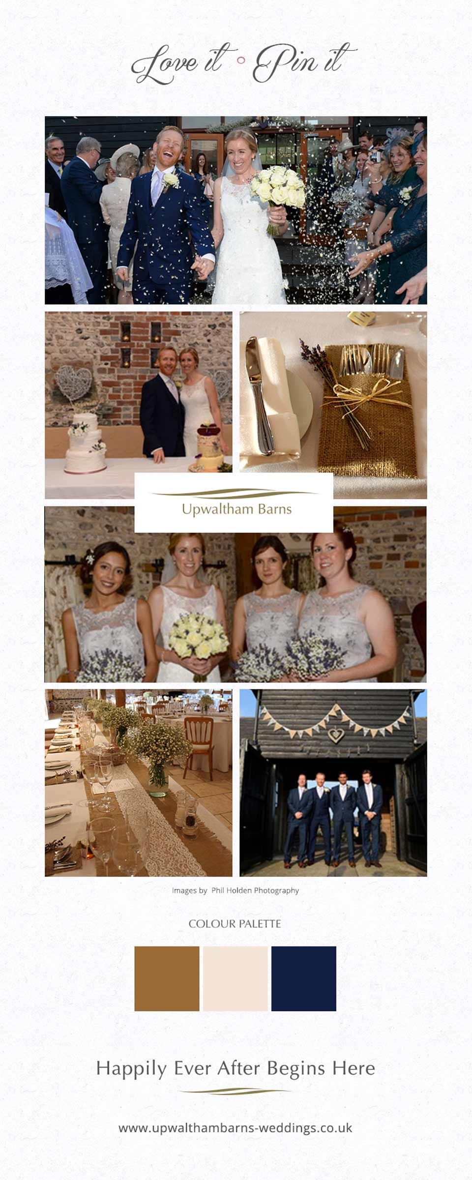 Jenny and Luke's real life wedding at Upwaltham Barns