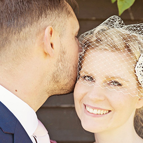 Bride and groom at Upwaltham Barns - © Tim Simpson Photography