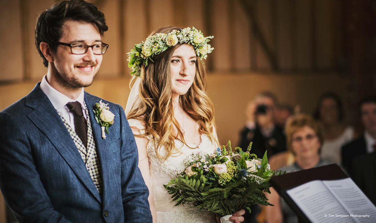 Autumn Wedding Ideas at Upwaltham Barns - Autumn wedding flowers © Tim Simpson Photography