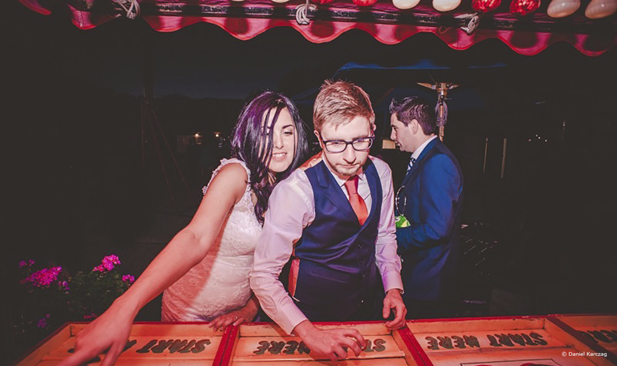 Wedding Entertainment Ideas - Fairground games © Daniel Karczag Photography