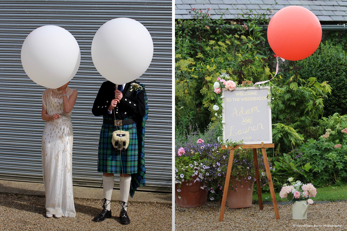 Giant wedding balloon ideas