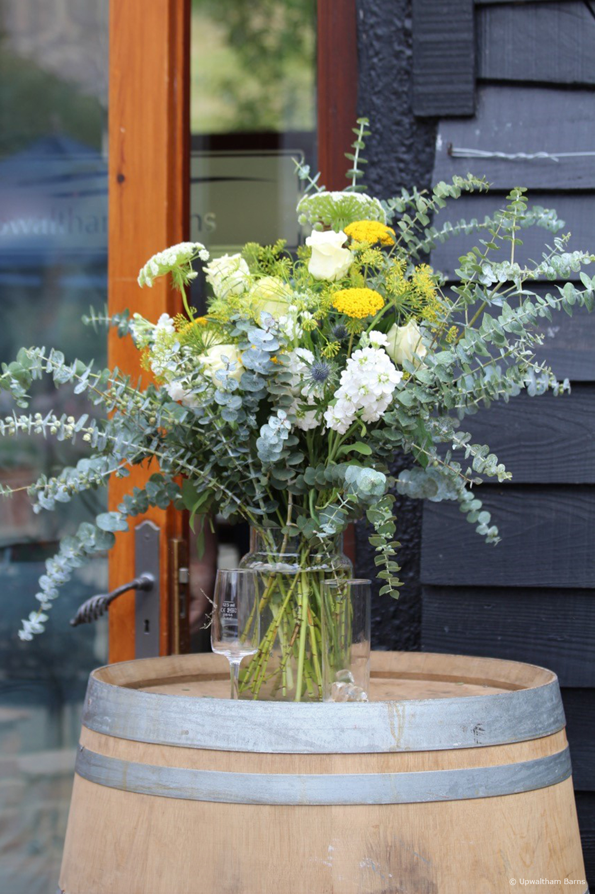 Wooden barrel plant pot ideas