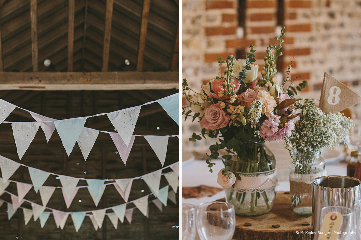 Styling bunting flowers martine andy upwaltham