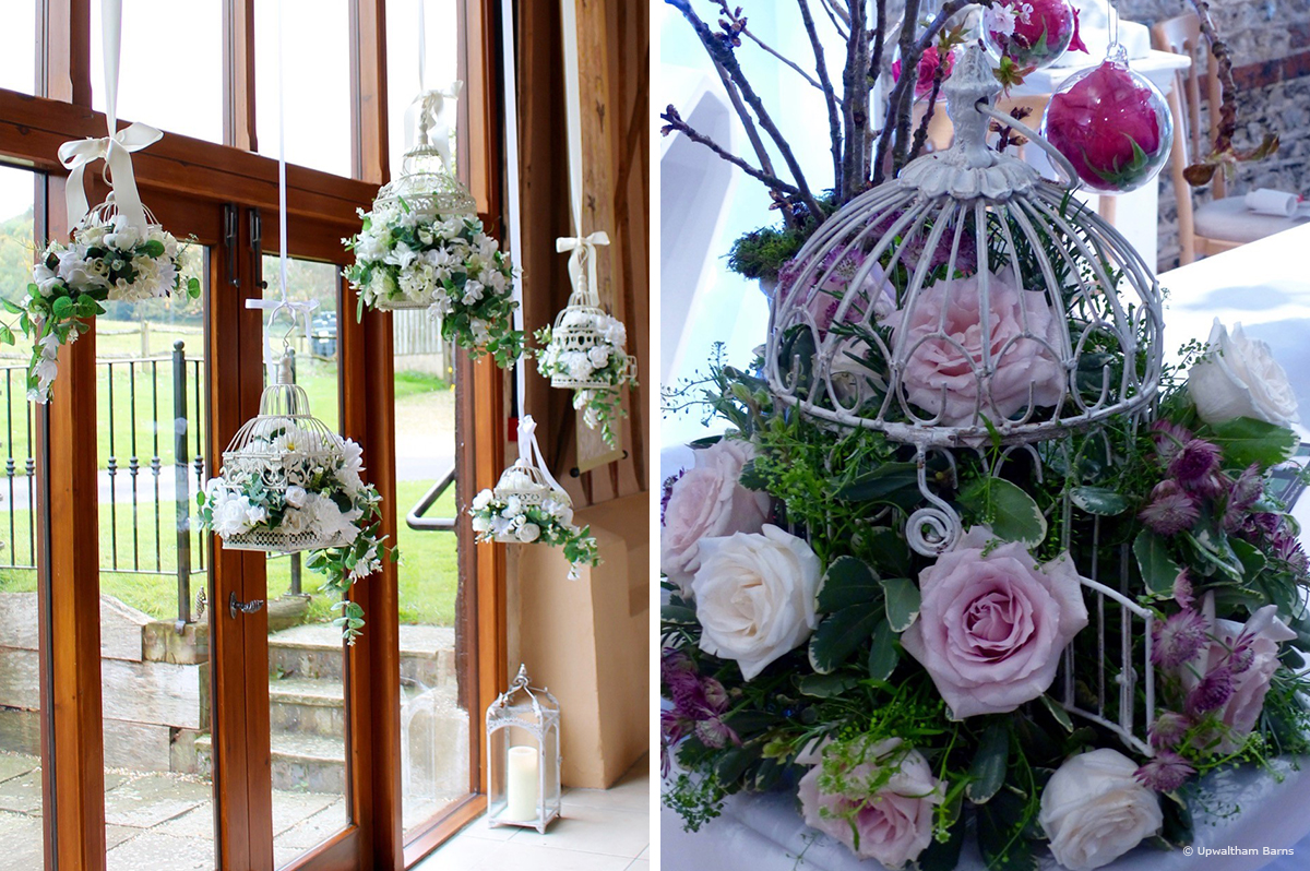 8 spring wedding flower arrangement ideas upwaltham birdcage wedding flower ideas mightylinksfo