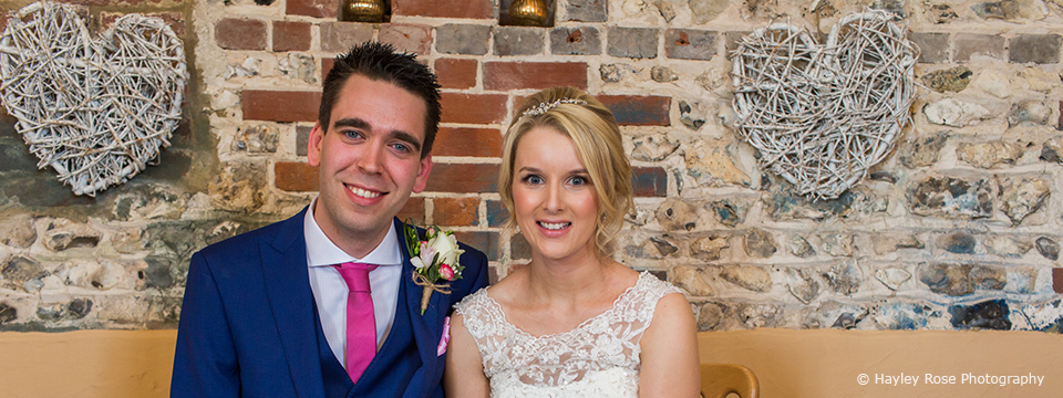 Beth and James wedding at Upwaltham Barns