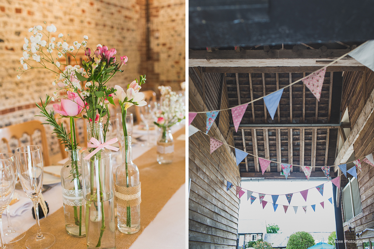 Decorations flowers bunting beth james upwaltham barns