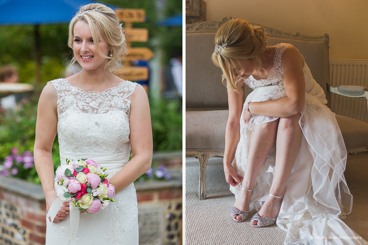 Dress 2 bride shoes beth james Upwaltham Barns