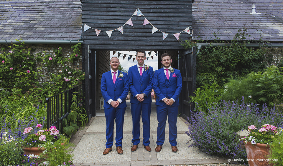 Groom clothes james beth upwaltham barns