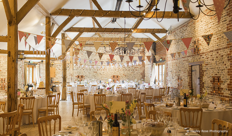 The venue reception room beth james Upwaltham Barns