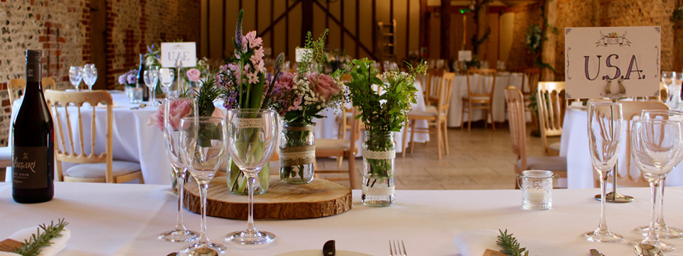 Rustic wedding ideas at Upwaltham Barns