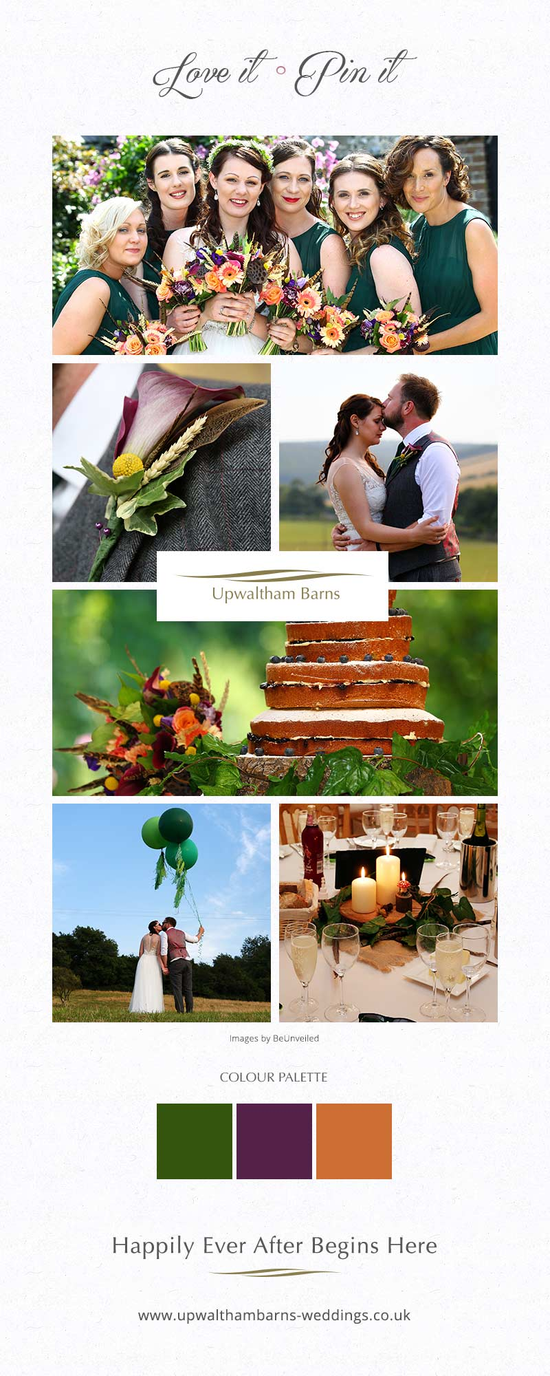 Danielle and Matthew's real life wedding at Upwaltham Barns