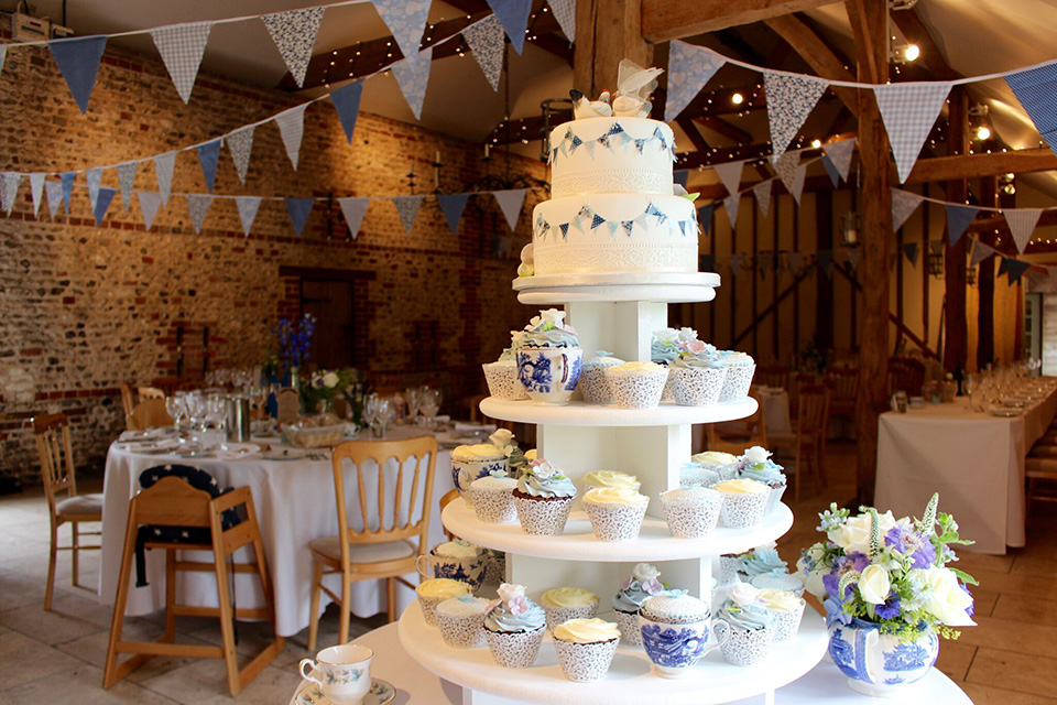 2. Decorate this beautiful wedding venue in West Sussex with bunting for the perfect country style.