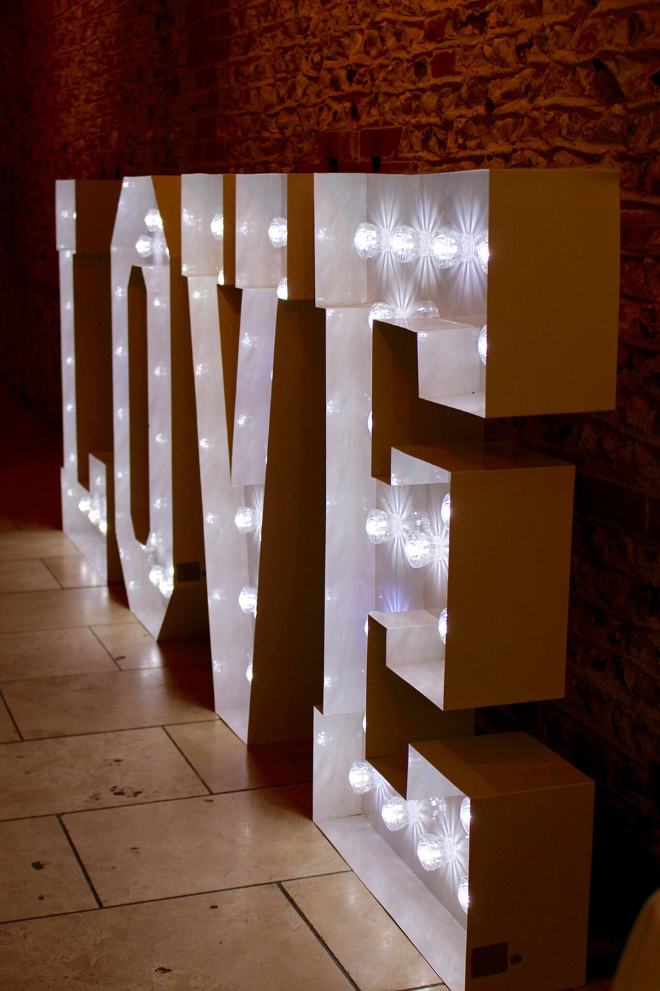 Love letters make a great addition to one of the finest wedding venues in West Sussex