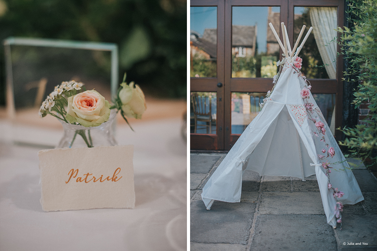 Teepees for your young wedding guests to play in