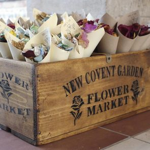 confetti cones homemade petal confetti upwaltham barns wedding venues west sussex