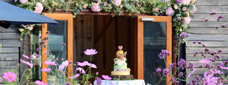 Take a look at the fabulous wedding cakes from our real wedding couples at Upwaltham Barns