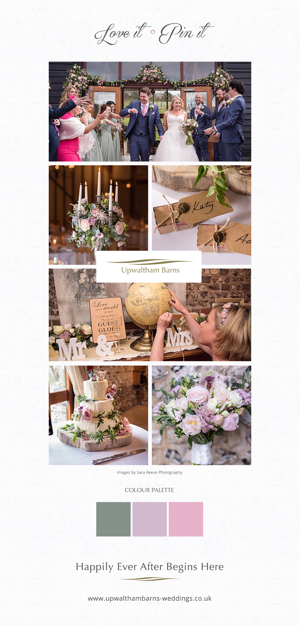 Katy and Adam romantic spring wedding ideas at the beautiful Upwaltham Barns in West Sussex