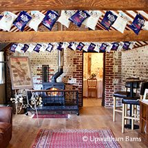 The cosy Stable Bar at Uplwatham Barns wedding venue in Sussex