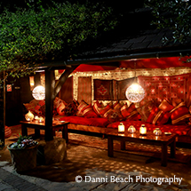 Couples can enjoy a romantic moment in the Moroccan snug at Upwaltham Barns