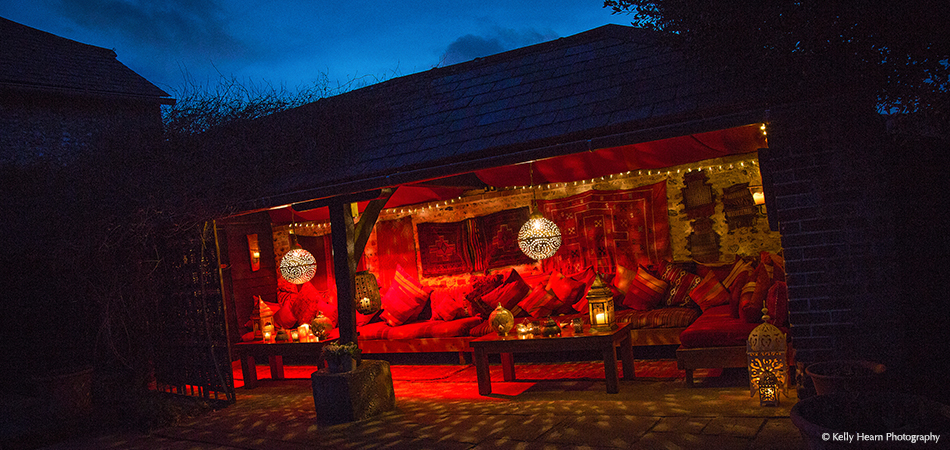 The cosy Morrocan Snug is a great area to take a moment away from guests on your wedding day