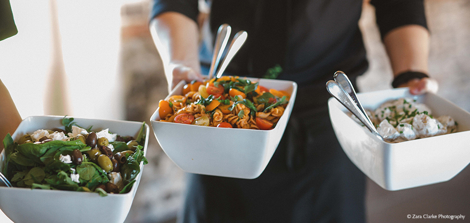 A selection of salads is the perfect choice for a summer wedding – wedding food
