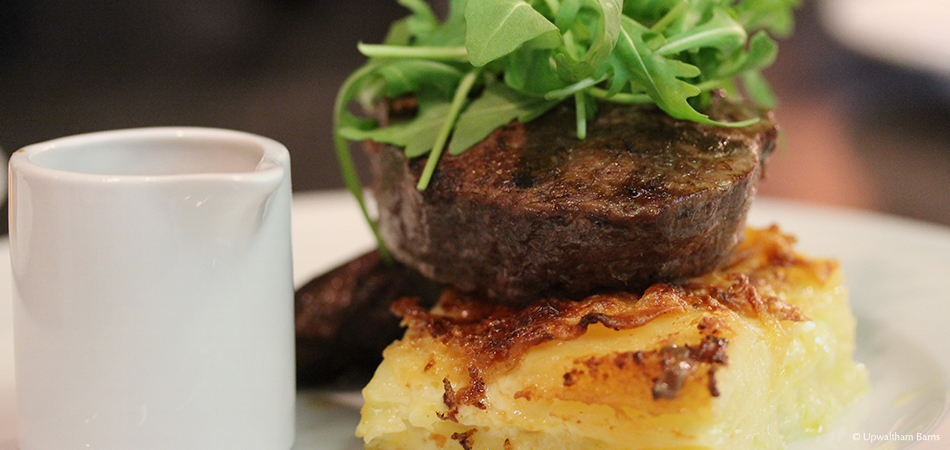 Steak and dauphinoise potatoes are a delicious option for your wedding breakfast