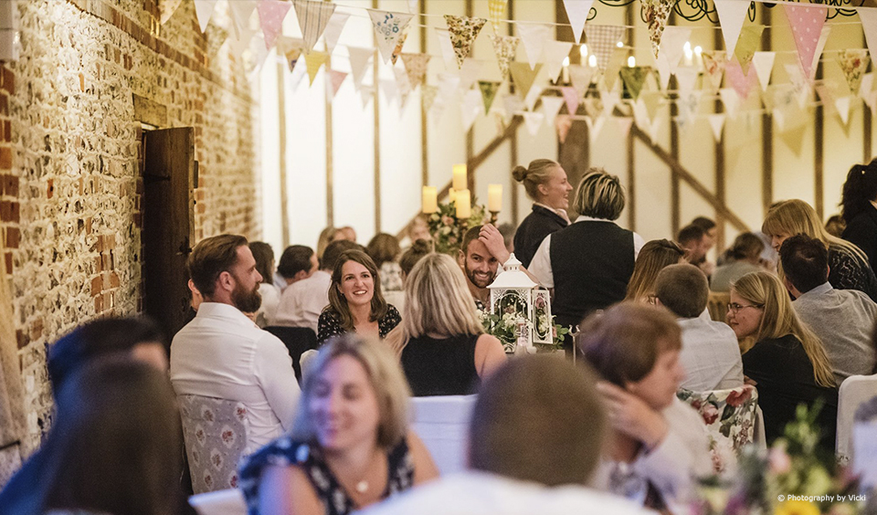 Couples are invited to a wedding experience evening before their wedding day at Upwaltham Barns