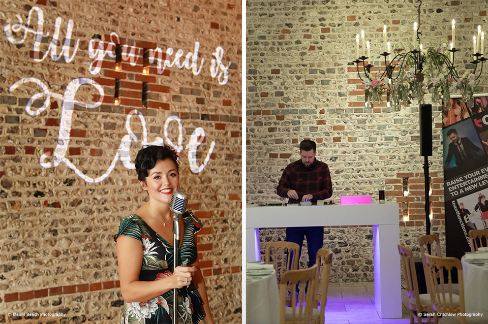 Guests were treated to a wedding singer and wedding DJ at the wedding experience evening