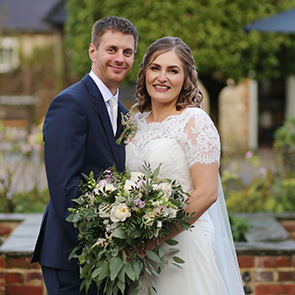 Hollie and Sam's real life wedding at Upwaltham Barns