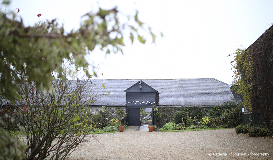 Upwaltham Barns in West Sussex is the perfect setting for a rustic winter wedding
