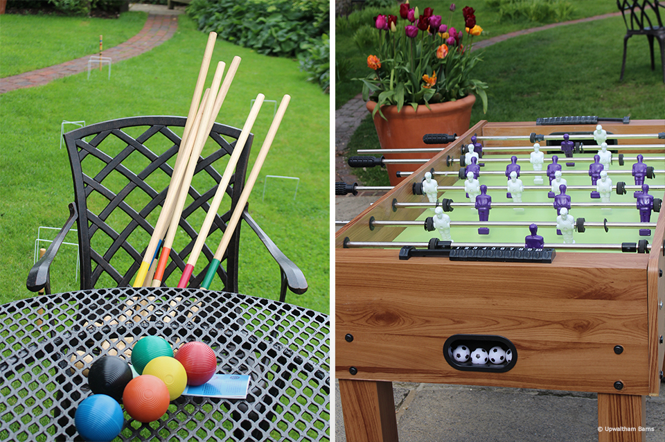 Croquet is a great way to entertain guests during a summer wedding at Upwaltham Barns