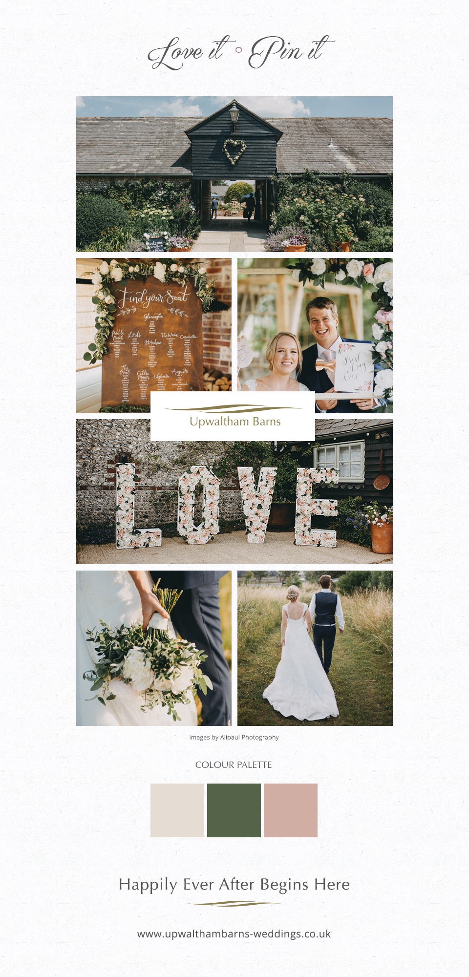 Nikki and Chris' real life wedding at Upwaltham Barns