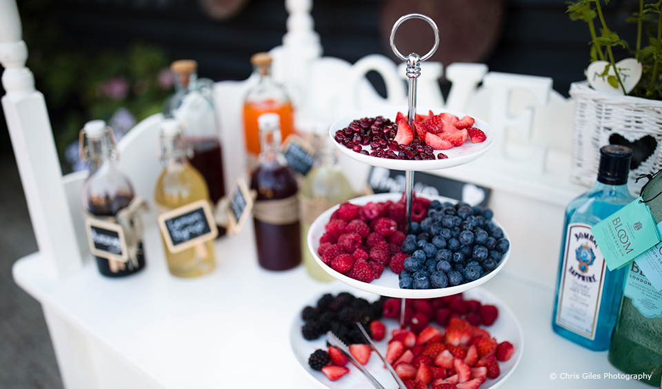 Create a pimp your drink station to entertain guests during your wedding reception at Upwaltham Barns