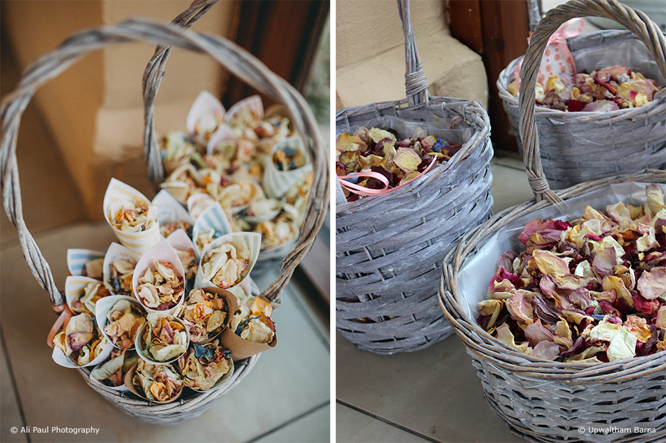 Create your own DIY wedding confetti cones for your wedding day at Upwaltham Barns