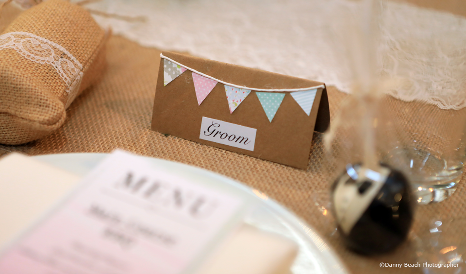 Create your own diy wedding place cards for your wedding reception at Upwaltham Barns